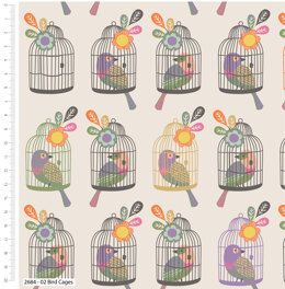 Craft Cotton Company Little Meadow Birds - Cages