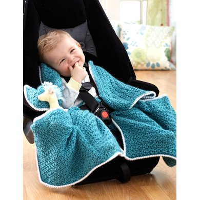Car Seat Blanket In Bernat Softee Baby Solids Free Pattern