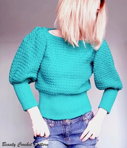 Puff Sleeves Sweater