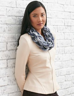 Pretty Pirouette Arm Knit Cowl in Patons Classic Wool Worsted
