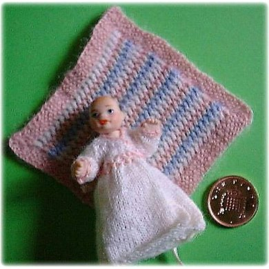 1:12th scale Baby shawl and carrying coat
