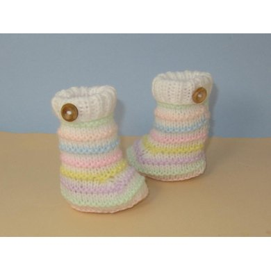 Easy Baby Candy Stripe Booties