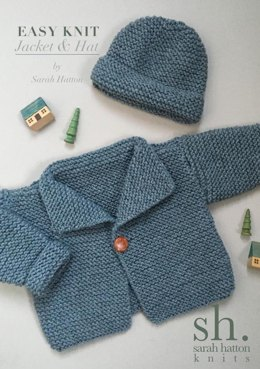 Knitting patterns for babies loveknitting easy knit aran jacket and hat dt1010fo