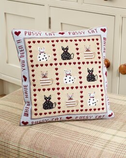 Historical Sampler Company Pussy Cat, Pussy Cat Tapestry Cushion Front Kit - Multi