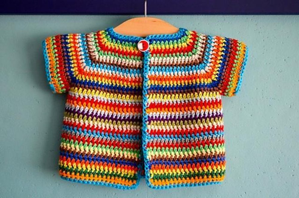 Colourful Baby Vest Crochet Pattern By Annelies Baes