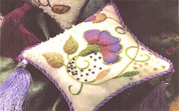 Rajmahal Elizabethan Pastel Pincushion Embroidery Kit - 12 x 12 cm