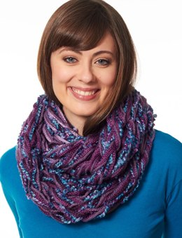 Arm Knit Cowl in Bernat Soft Boucle