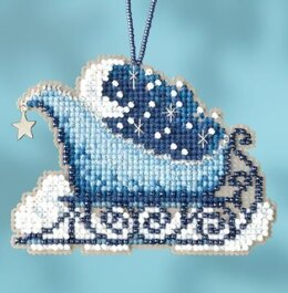Mill Hill Celestial Sleigh Cross Stitch Kit - 2.25in x 2.75in