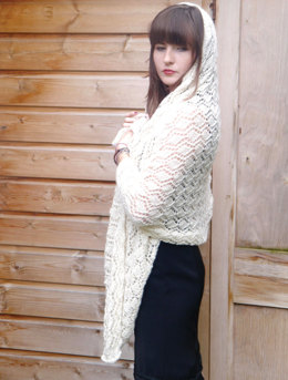 Stolen Kisses A Wedding Shawl in UK Alpaca Baby Alpaca Silk 4 Ply - Downloadable PDF