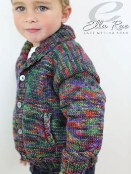 Eddie Jacket in Ella Rae Lace Merino Aran - ER22-03 - Downloadable PDF