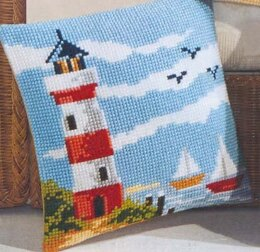 Vervaco Lighthouse Cushion Front Chunky Cross Stitch Kit - 40cm x 40cm