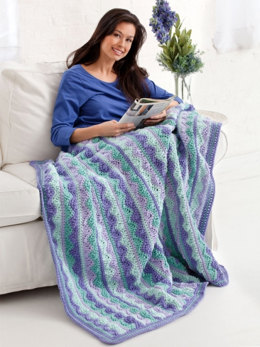 Summer Mist Throw in Caron One Pound - Downloadable PDF