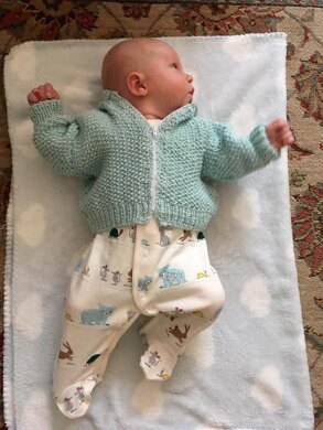 Baby Moss Stitch Hoodie, Mittens & Booties