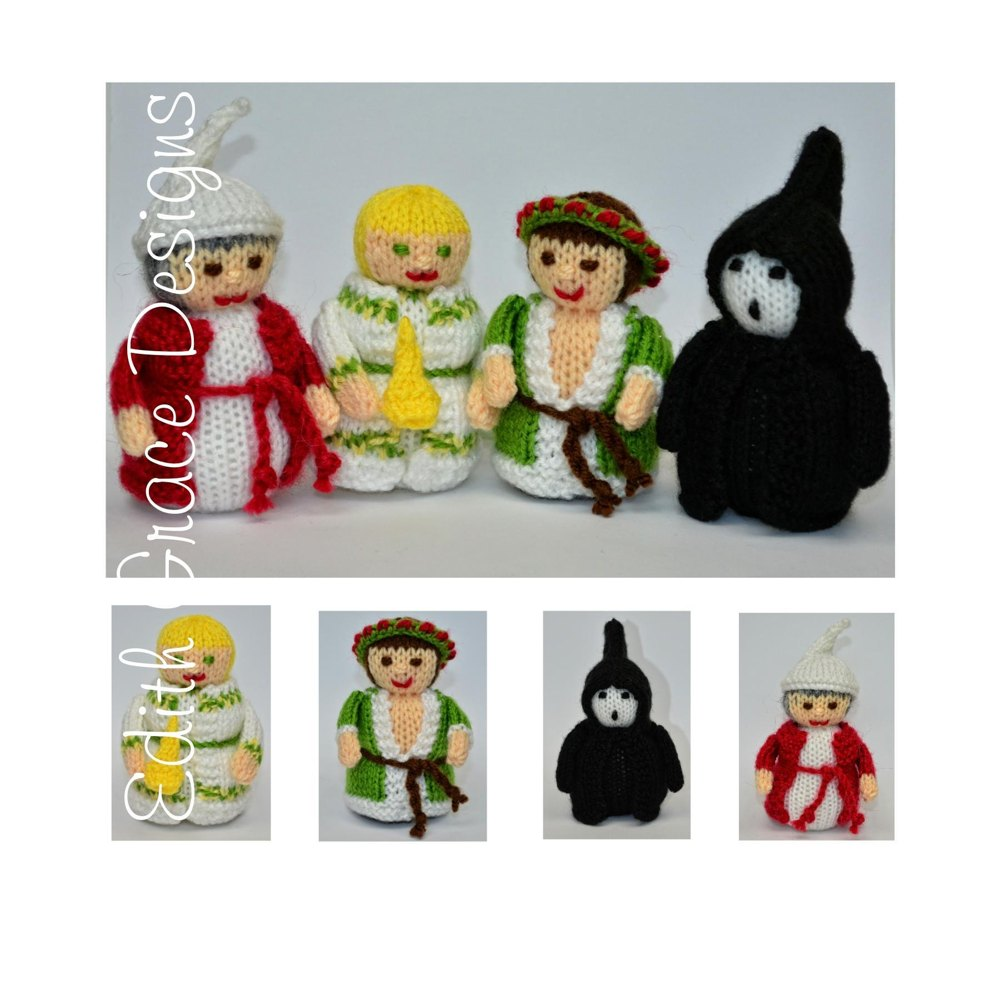 1000 Images About A Christmas Carol On Pinterest: Christmas Carol Dolls -Toy Knitting Pattern Knitting