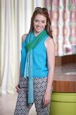 Knitted Scarf in Wendy Anaphora - Downloadable PDF