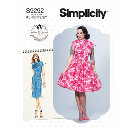 Simplicity Misses' Dresses With Mandarin Collar & Skirt Options S9292 - Sewing Pattern