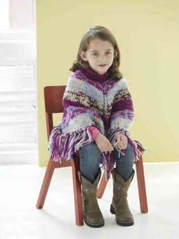 Playful Poncho in Lion Brand Vanna's Choice and Vanna's Choice Baby - 90030AD