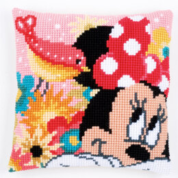 Vervaco Psst I've a Secret Minnie Cushion Cross Stitch Kit - Multi