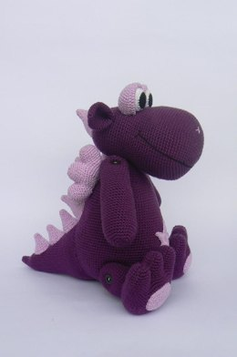 Friendly purple dragon
