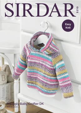 4c5bc08f6 Hooded Sweater in Sirdar Snuggly Baby Crofter DK - 5210 - Downloadable PDF