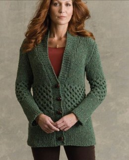 Shakespeare Cardigan in Tahki Yarns Donegal Tweed