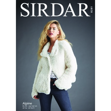 Lady's Bomber Jacket in Sirdar Alpine - 8281 - Downloadable PDF