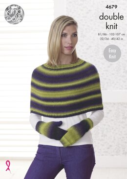 Capes, Hat & Mittens in King Cole Riot DK - 4679 - Downloadable PDF