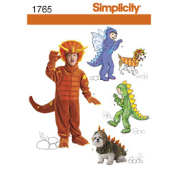 Simplicity Child's and Dog Costumes 1765 - Paper Pattern, Size A (3-4-5-6-7-8)