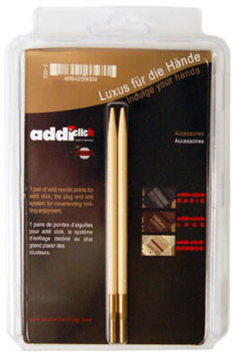 Addi Click Bamboo Interchangeable Needle Tips 13cm (5in) (1 Pair)