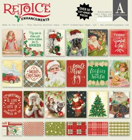 "Authentique Paper Authentique Double-Sided Cardstock Pad 12""X12"" 18/Pkg - Rejoice Enhancements"