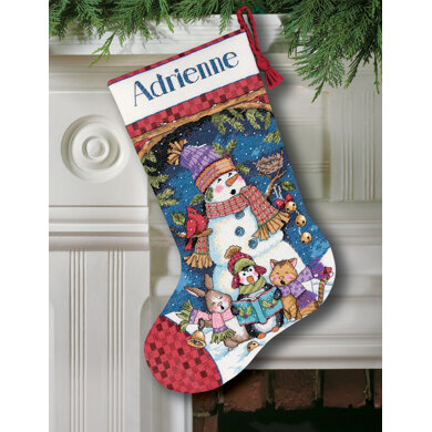 Dimensions Cute Carolers Stocking Cross Stitch Kit - 41cm