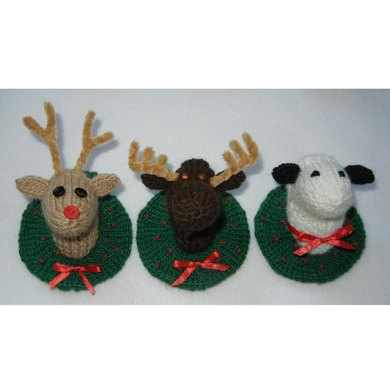 Christmas Sheep, Moose and Reindeer
