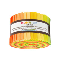 Robert Kaufman Kona Cotton Solids 2.5in Strip Roll - HR-143-24