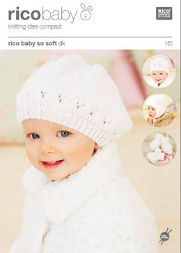 Childrens Hats, Mittens and Bootees in Rico in Baby So Soft DK - 151