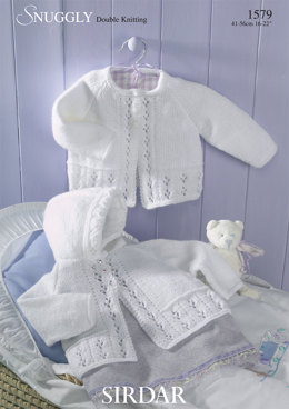 Babies Matinee Coats in Sirdar Snuggly DK - 1579 - Downloadable PDF