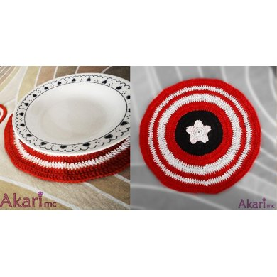 USA flag inspired round placemat _ M22a