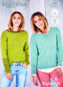 Sweaters in Stylecraft Bellissima - 9580 - Downloadable PDF