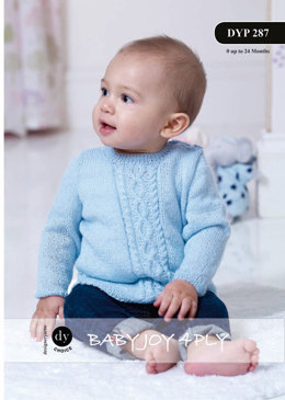 Cable Pannel Sweater and Hat in DY Choice Baby Joy 4 ply - Downloadable PDF