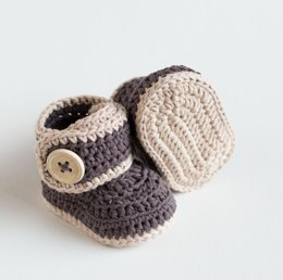 Warm Toes Crochet Baby Booties