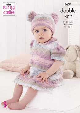 Baby Set in King Cole Beaches DK - 5631 - Downloadable PDF