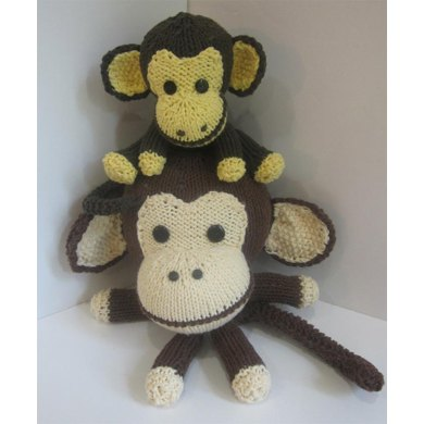 Two Knitkinz Monkeys