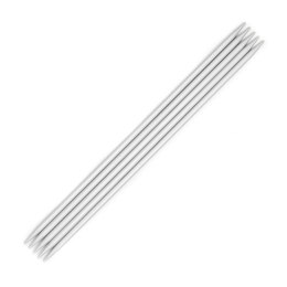 KnitPro Basix Aluminum Double Point Needles 20cm (Set of 5)