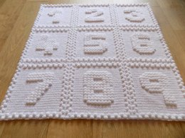 Numbers One Piece Baby Blanket