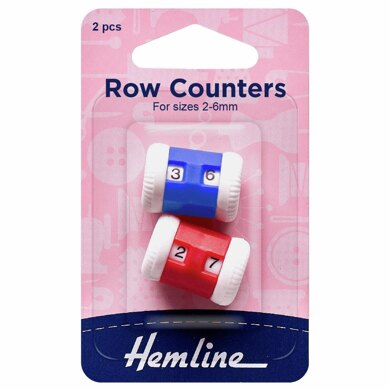 Hemline Row Counters: 2-6mm: Red/Blue: 2 Pieces