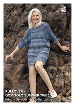 Striped Pullover in Lana Grossa Gomitolo Summer Tweed - 09 - Downloadable PDF