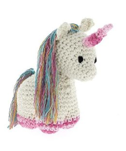 Rainbow Unicorn Nora Toy in Hoooked Eco Barbante