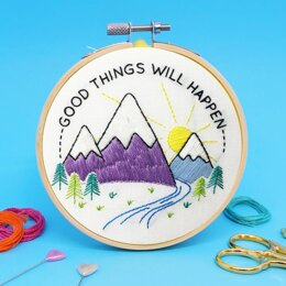 The Make Arcade Mini Embroidery - Good Things - 4in