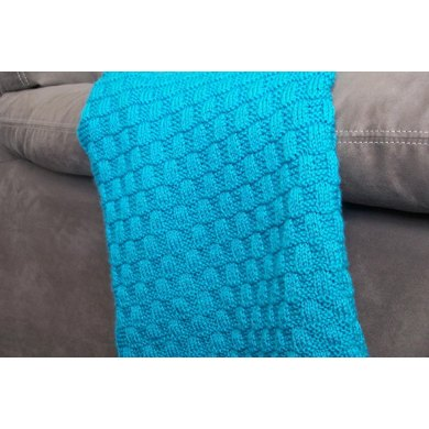 Wavy Checkerboard Baby Blanket Knitting Pattern By Bunny Totem Knits