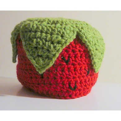 Strawberry Hat With or Without Earflaps- Newborn to Adult
