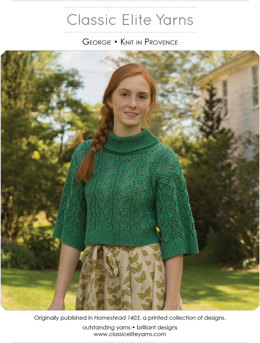 Georgie Pullover in Classic Elite Yarns Provence